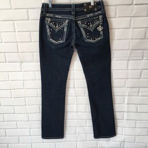 Miss Me straight leg Embellished Jeans Size 28